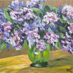 lilacs in gold