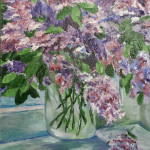 mason jar lilacs